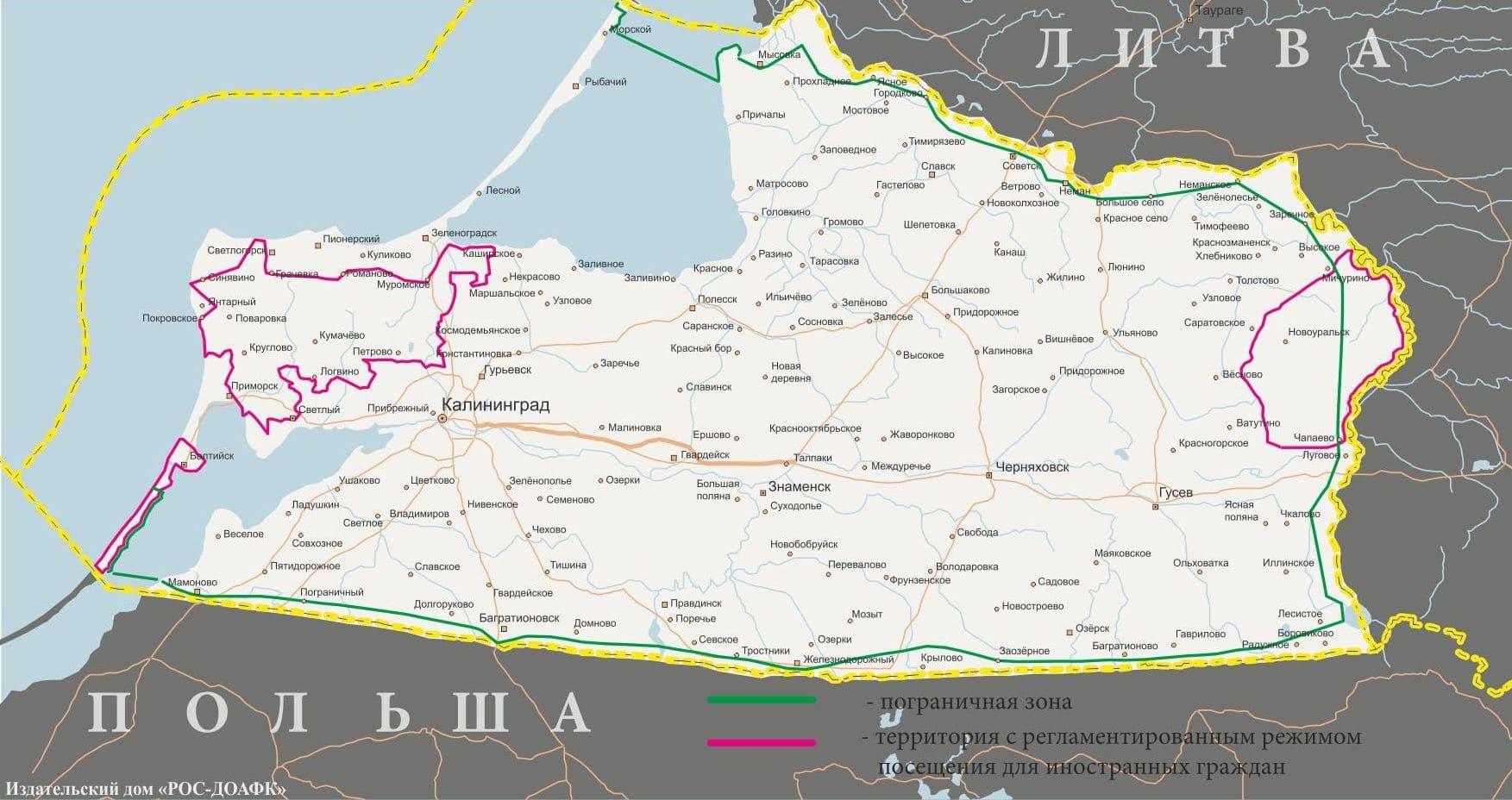 Kaliningrad Karte